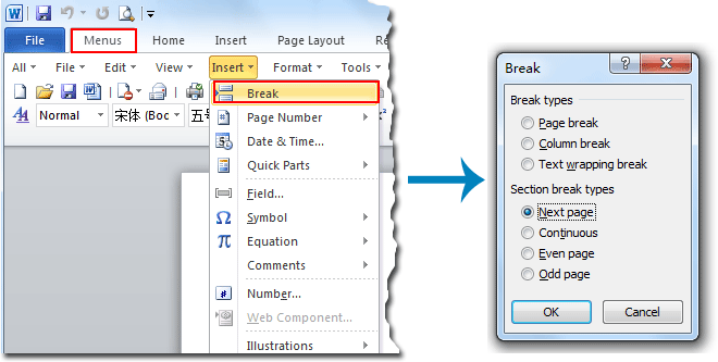 Where Is The Section Break In Word 2007 2010 2013 And 2016