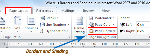 microsoft word borders