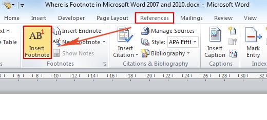 apa microsoft word 2013
