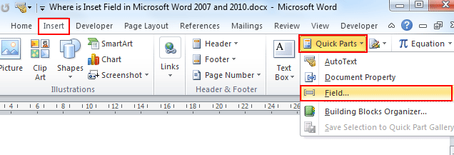 insert pdf page into word 2007