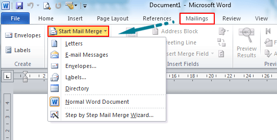 Where Is The Mail Merge In Microsoft Word 2007 2010 2013