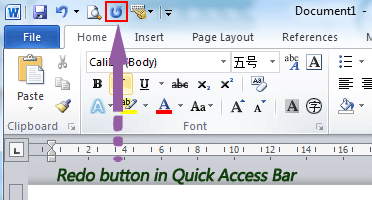 Where is the redo button in microsoft word 2007 2010 2013 and 2016 if you have not classic menu for word 2007201020132016 installed you can ccuart Images