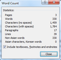 Can count words my essay