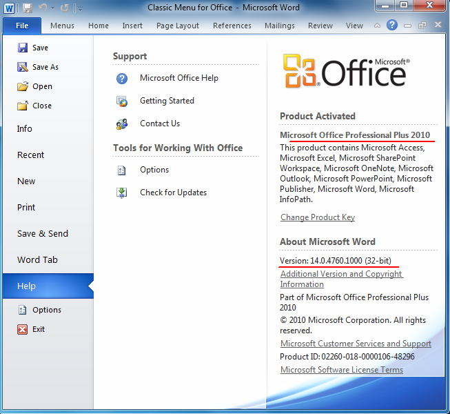 ms office 2003 pro key