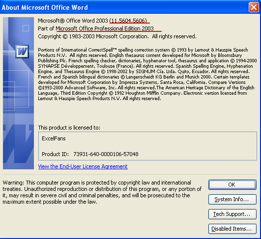 free microsoft word 2003  windows 7