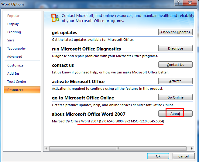 activate ms office enterprise 2007