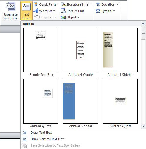 Compare Text Box Function of Microsoft Word 2003, 2007 and 2010