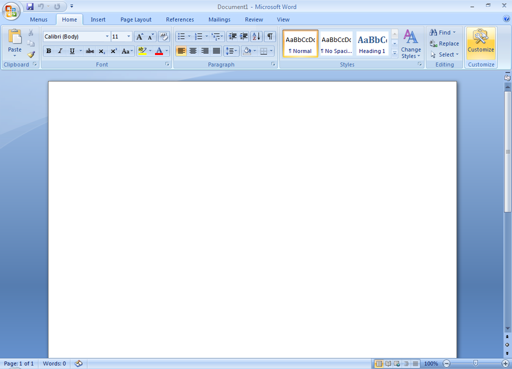 Screen Shots Of Ribbon Customizer For Office 2007