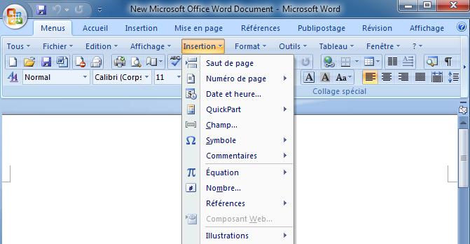 Affiche les menus classiques sur le ruban microsoft office 2007 - Office starter telecharger ...