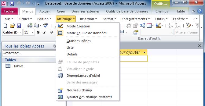 Affiche Les Menus Classiques Sur Le Ruban Microsoft Office