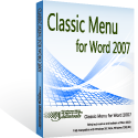 Box of Classic Menu for Word