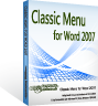 box of Classic Menu for Word 2007