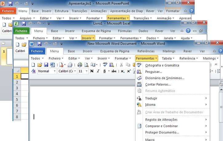 Barras de Menu de Excel Classic Menu For Excel 2010