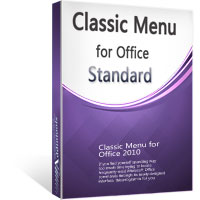 box of Classic Menu for Office Standard 2010