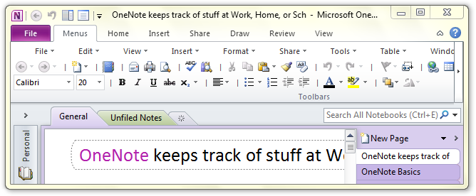 Where is to do list in microsoft onenote 2010 2013 and 2016 for Templates for onenote 2010
