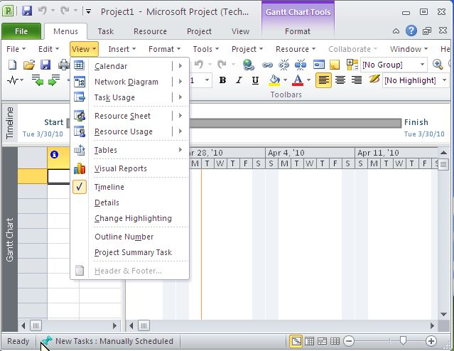Click to view Classic Menu for Project 2010 5.00 screenshot